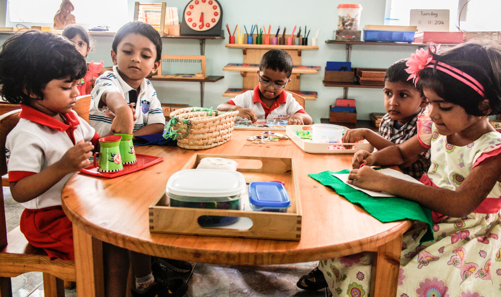 Kids at Little Expolers Montessori, Colombo