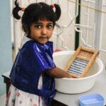 Avenika EPL 2 washing a cloth