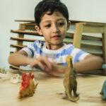 Ayaan with dinosaurs