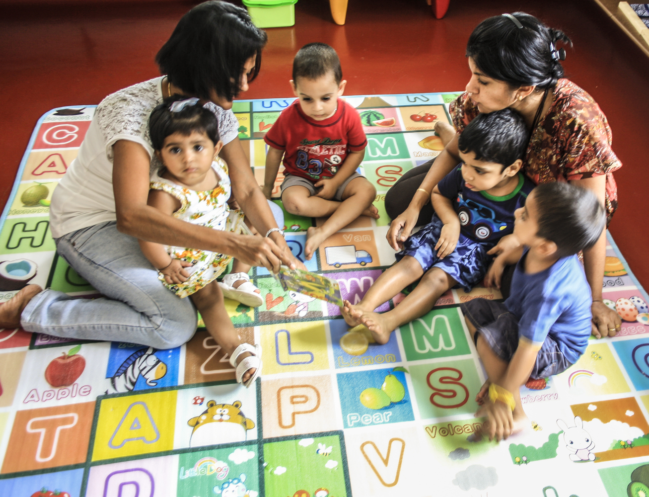 Toddler group with teachers